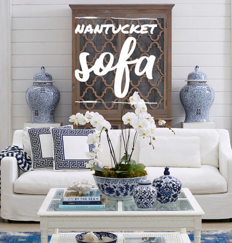 Nantucket 3 Seater Sofa White