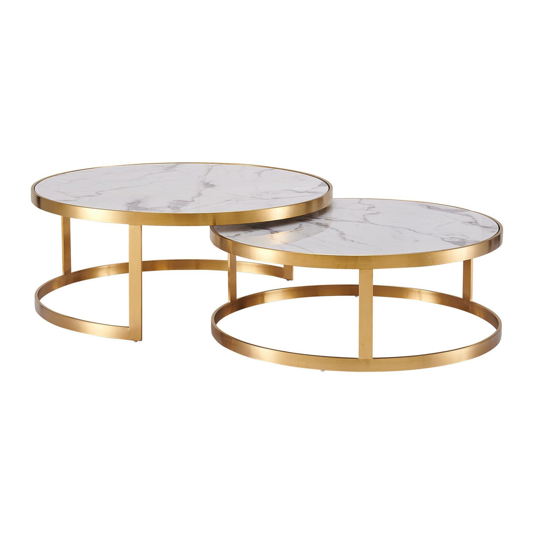 Marble & Iron 2 Set Coffee Table