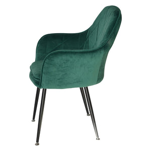 Malta Velvet Dining Chair - Emerald Green-Find It Style It Home