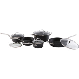0-Piece Cookware Set with Stainless Steel Handles - Rosemary & Wines