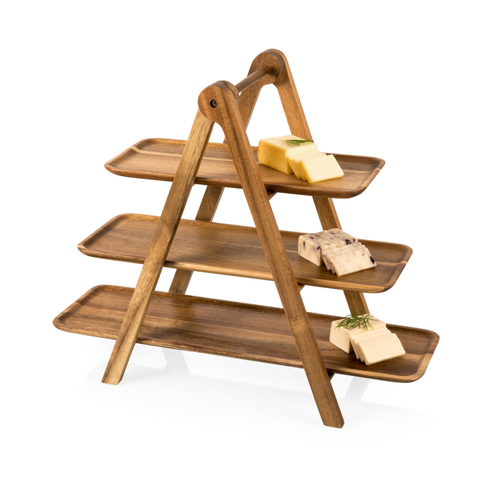 SERVING LADDER 3 TIERED SERVING CHEESE BOARD