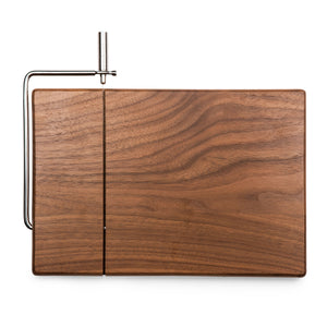 MERIDIAN BLACK WALNUT CUTTING BOARD AND CHEESE SLICER - Rosemary & Wines