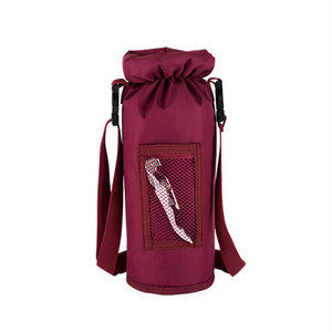 Grab & Go Insulated Bottle Carrier in Burgundy  - Rosemary & Wines