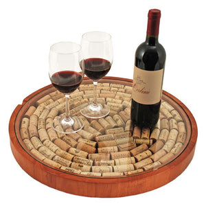 Lazy Susan: Cork Display - Rosemary & Wines