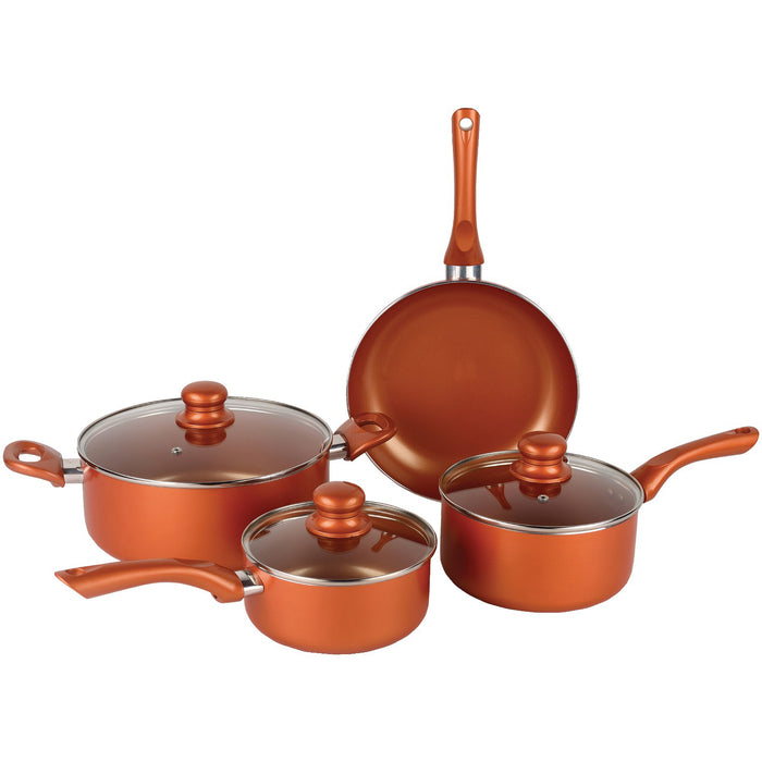 Nonstick Copper Cookware Set- 7-Piece