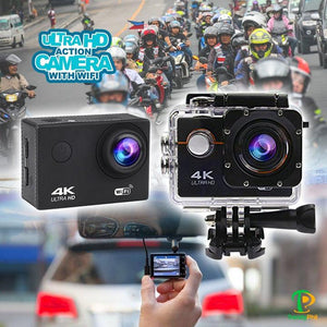 4K Ultra HD Waterproof Wifi Action Camera (Free Waterproof Case & Accessories)
