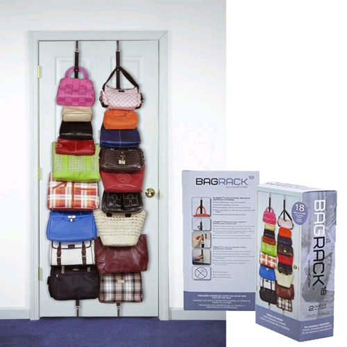 Adjustable Bag Rack organizer hook holder over the door