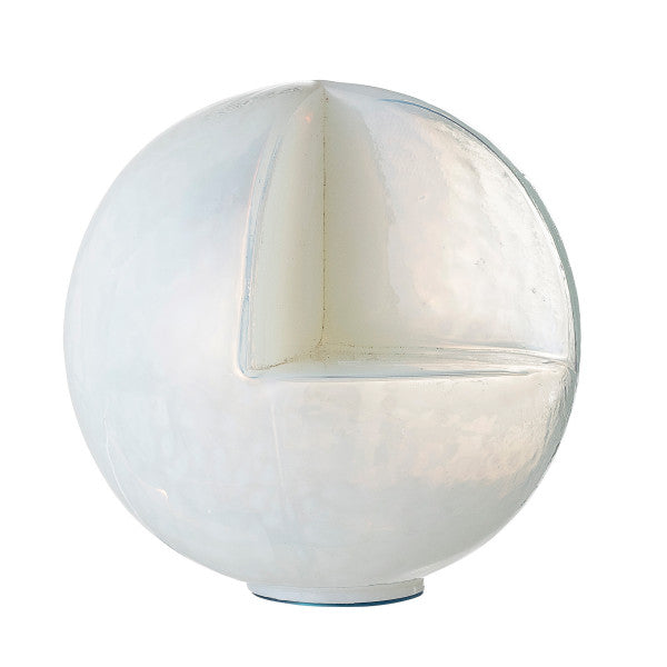 Glass Sphere-Shaped Candleholder with Cut Out Ledge