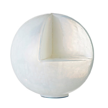 Glass Sphere-Shaped Candleholder