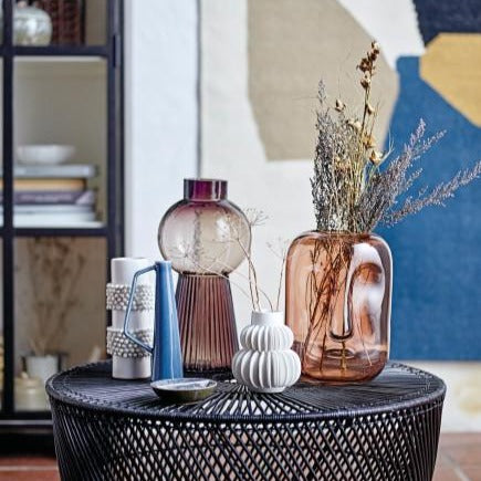 Black Basketweave Vase