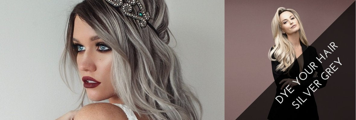 HOW TO DYE DARK HAIR SILVER