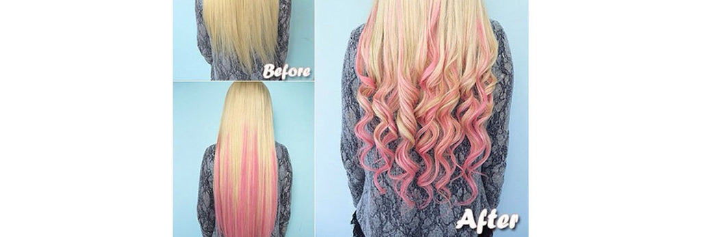 HOW TO DIP DYE BLONDE HAIR EXTENSIONS WITH FOOD COLOURING