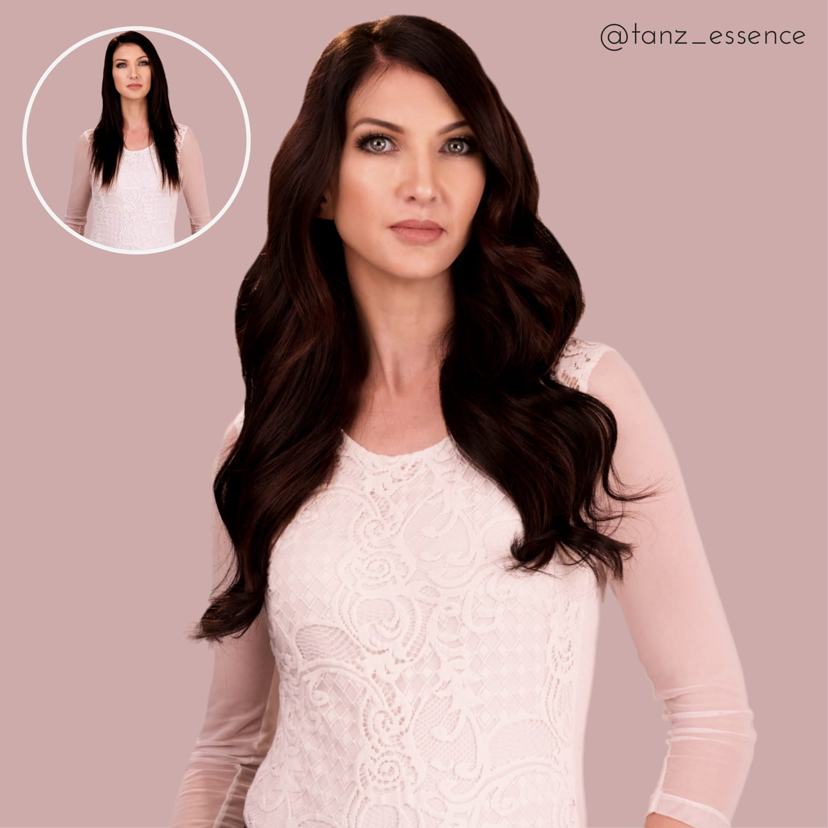 Toast Of The Town 18inch Brown Black Halo Hair Extensions Frontrow