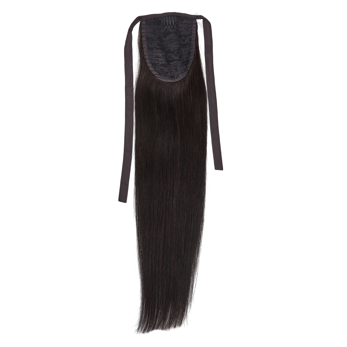 Brown Black 20inch Clip in Ponytail
