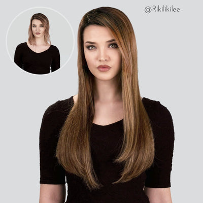 Highlighted Brown Clip-in Hair Extensions