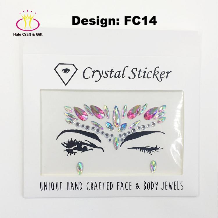 Rhinestone Face Stickers Design FC14