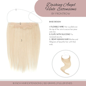 Life of The Party 18inch Light Blonde Halo Hair Extensions - FrontRow
