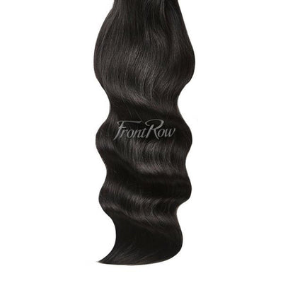 On The Edge 20inch Jet Black Clip-in Hair Extensions - FrontRow