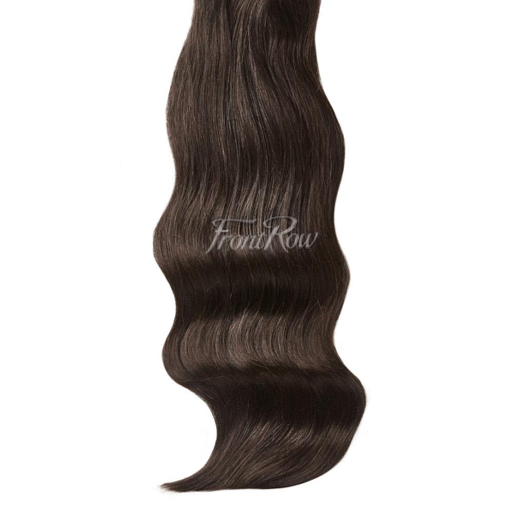 Toast Of The Town 20inch Brown Black Clip-in Hair Extensions - FrontRow