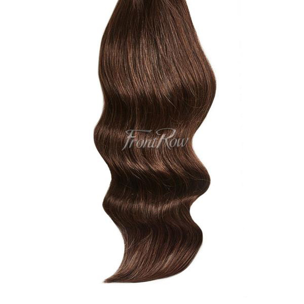 Dark Brown 20inch Clip In Hair Extensions Frontrow
