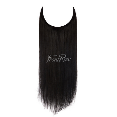 Jet Black Halo Hair Extensions