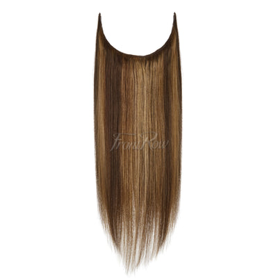 Highlighted Brown Halo Hair Extensions