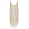 Ash Blonde Halo Hair Extensions
