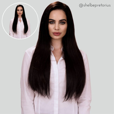 Jet Black Clip-in Hair Extensions