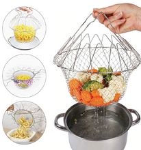 Load image into Gallery viewer, Foldable Stainless Steel Colander