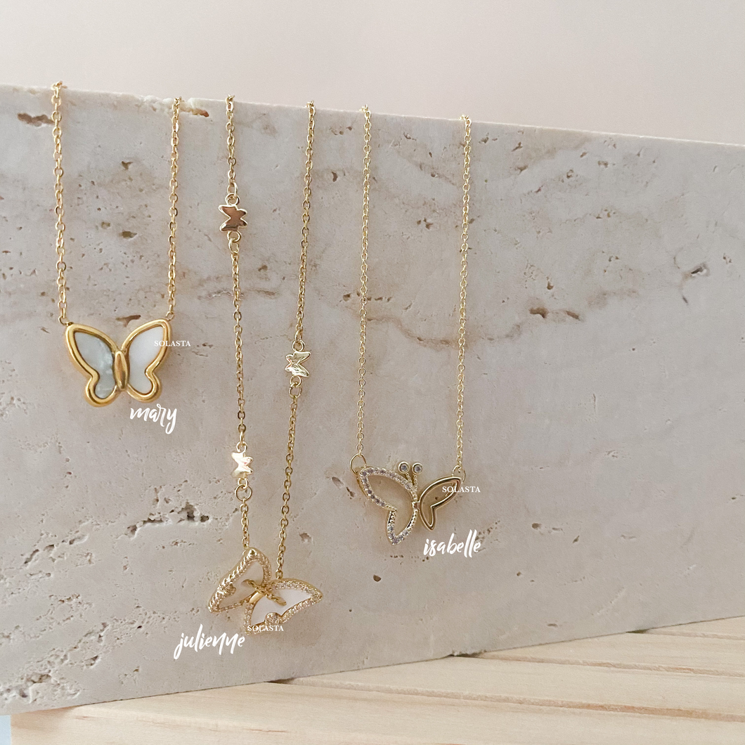 Butterfly Necklace - Mary, Julienne, Isabelle