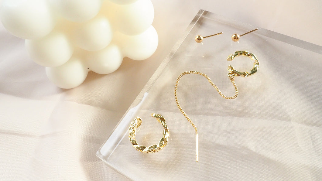 Cess 4Piece Stud, Earcuff and Chain