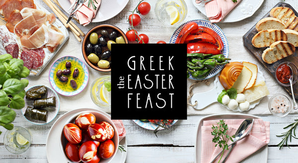 The Greek Easter Feast by Grecian Purveyor. Australia's Purveyor of finest Greek foods. Organic, high quality and gourmet products from Greece #TheGreekEasterFeast with Chef Dimitris Katrivesis, Kathy Tsaples and Vikki & Helena from MKR My Kitchen Rules