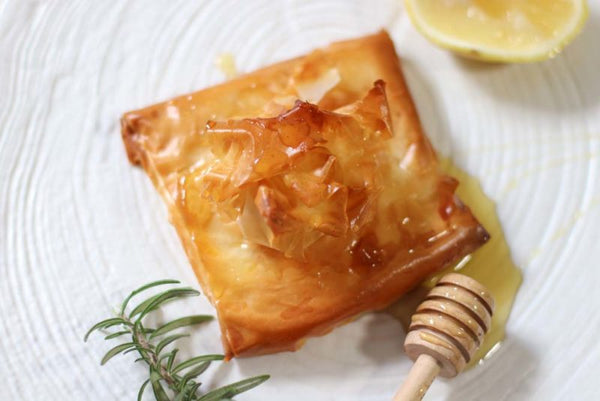 greek cheese pie with honey and filo pastry by my kitchen stories. Grecian Purveyor has the best raw honey in Australia.