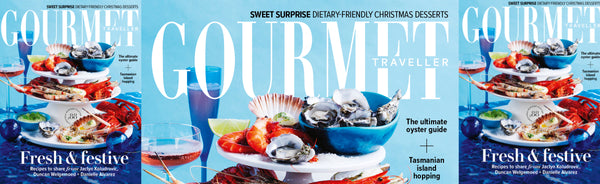Gourmet Traveller Magazine Features Grecian Purveyor in their official Christmas Gift guide for gourmet food lovers for December 2020 issue.