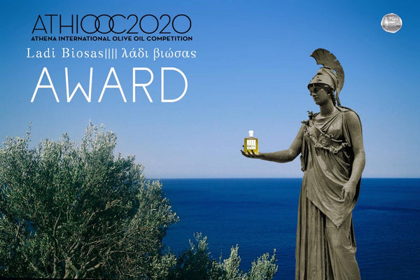 Ladi Biosas wins 10th international award at Athena International Olive Oil Competition for Organic Lemon Agrumato olive oil. Exclusively at Grecian Purveyor Sydney Australia.