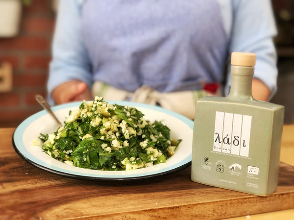 Grecian Purveyor William Dachris is delighted to introduce you to chef Alexia and host her delicious vegan recipe using our very own Ladi Biosas extra virgin olive oil all the way from Miami, USA.