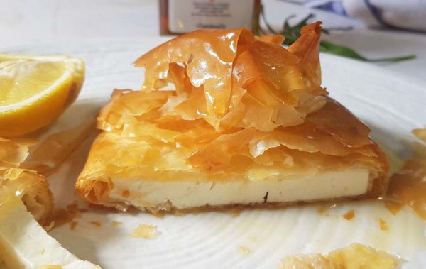 cheese pie recipe with raw honey. greek cheese pie