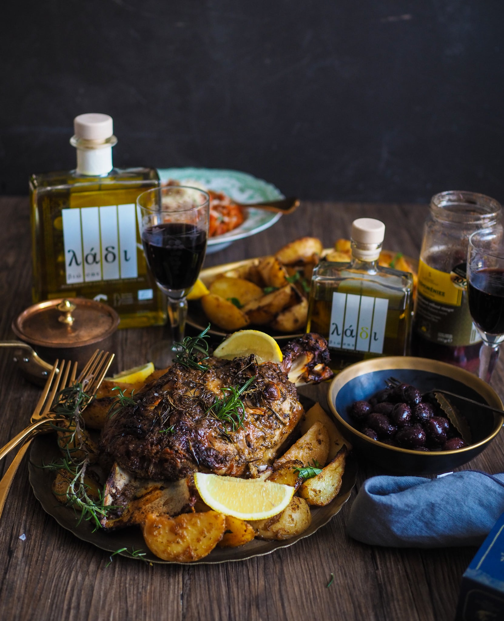 Greek slow roast lamb recipe by Not Quite Nigella with quality cooking ingredients by Grecian Purveyor. Shop gourmet foods online