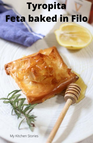 greek cheese pie by tania from my kitchen stories. best raw honey in australia by grecian purveyor.