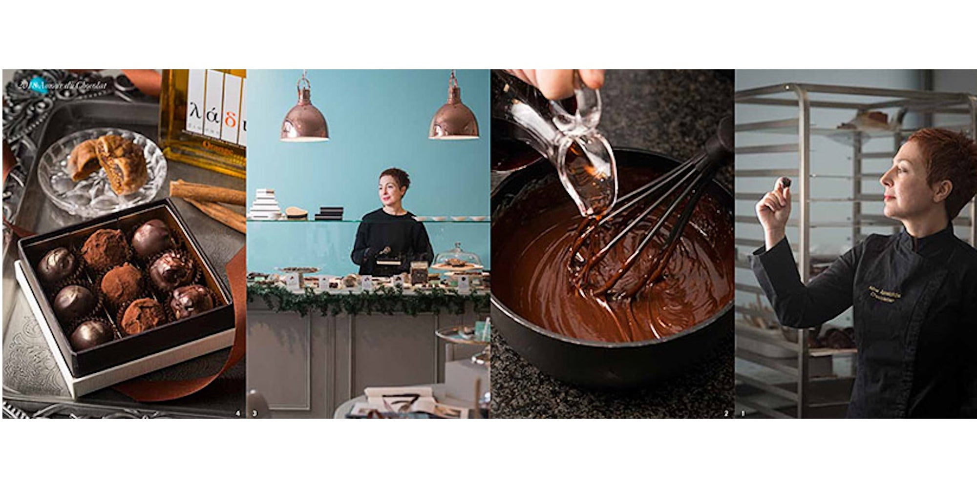Chocolate truffles with orange agrumato olive oil recipe by Mina Apostolidis and Grecian Purveyor. Gourmet grocer of best Greek products in Sydney, Melbourne, Brisbane, Adelaide and Perth.