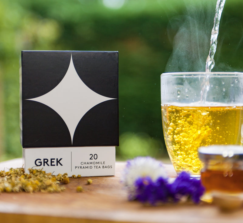 Premium Organic Greek Chamomile Tea, GREK - Grecian Purveyor, Australia's Purveyor of finest Greek foods. Organic, gourmet and high quality products.