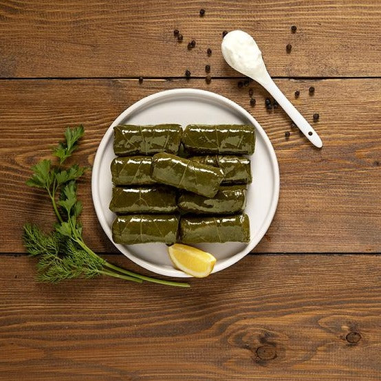 Greek dolmades, stuffed vine leaves, is a vegan healthy dish and ready to eat. Buy now online for free delivery to Melbourne, Sydney, Perth, Adelaide, Brisbane and Tasmania.
