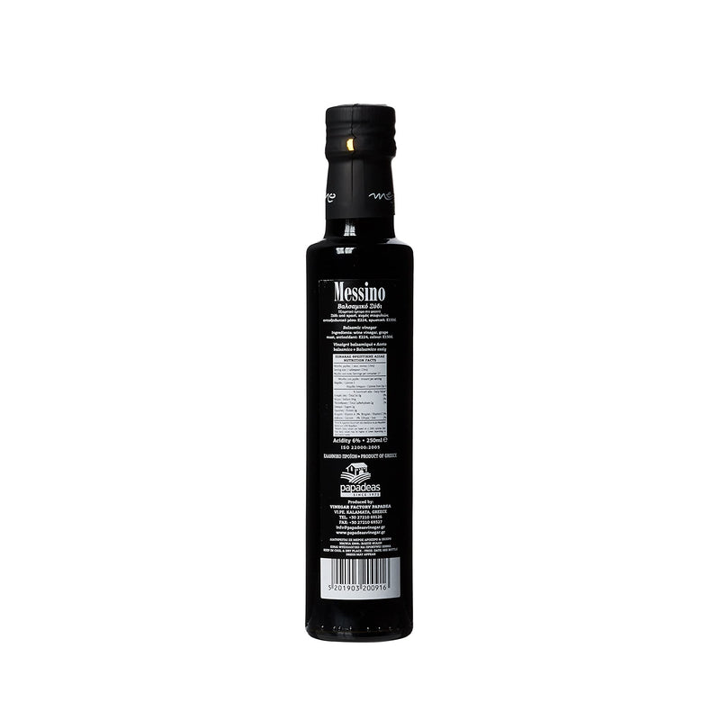 Aged balsamic vinegar, Messino, from Greece by Grecian Purveyor. Australia's Purveyor of finest Greek foods. High quality, gourmet and organic foods delivered anywhere in Australia.