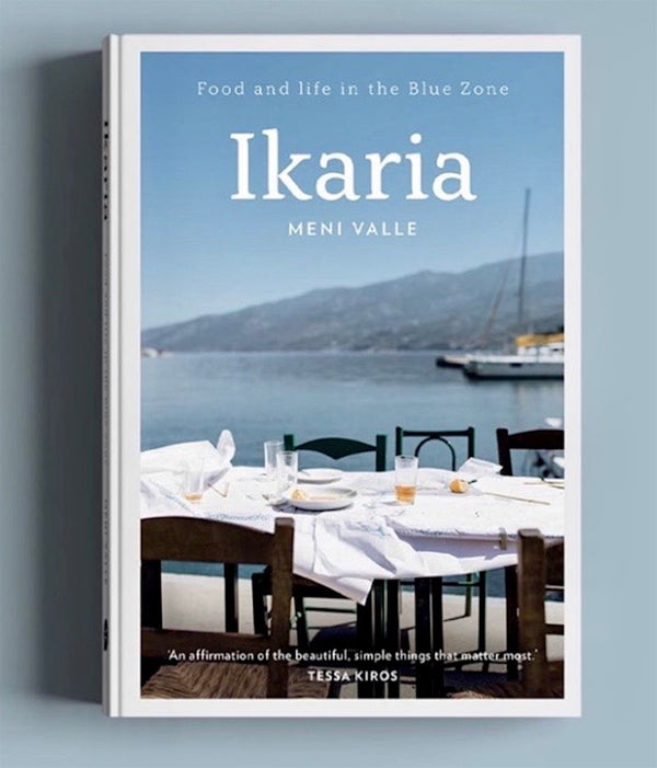 Greek Ikaria cookbook by Meni Valle buy online by Grecian Purveyor. Delivery in Australia, Sydney Melbourne, Brisbane, Adelaide, Canberra and Perth