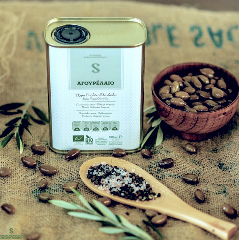Early Harvest Extra Virgin Olive Oil Agourelaio - Organic Unfiltered Gourmet Extra Virgin Olive Oil from Greece