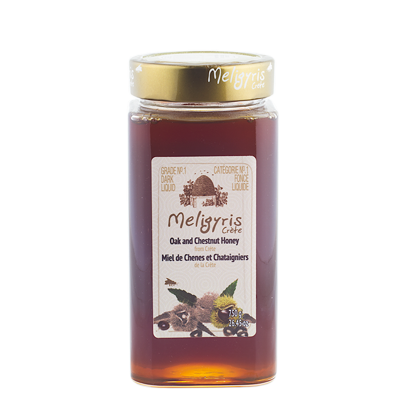 Greek Raw Honey – Cretan Oak and Chestnut Honey Meligyris GRECIAN PURVEYOR