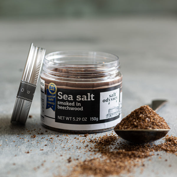 Natural Fine Sea Salt Smoked In Beechwood