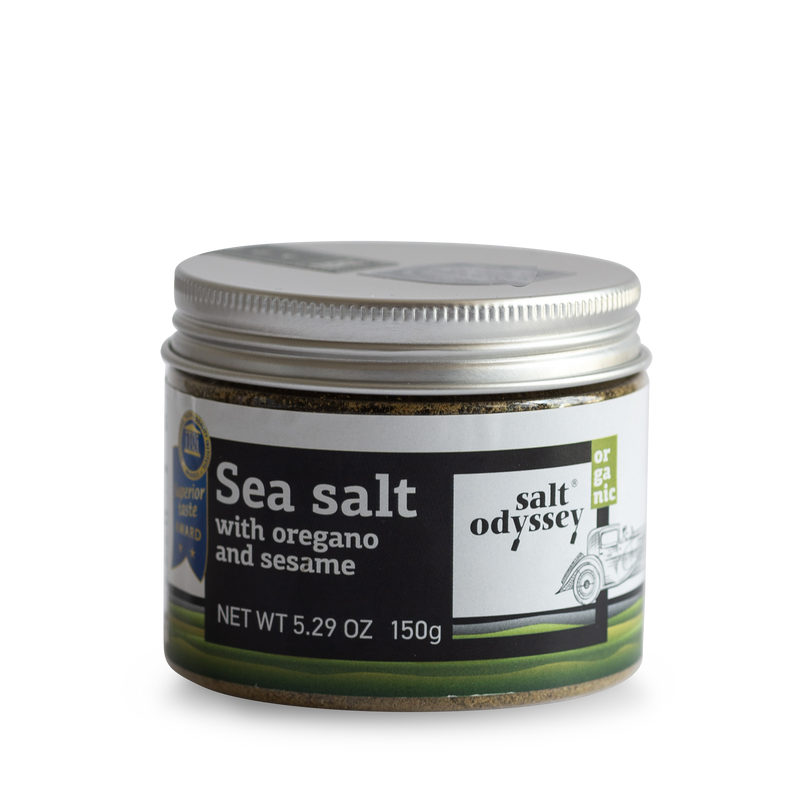 Organic Sea Salt With Oregano And Sesame - Salt Odyssey