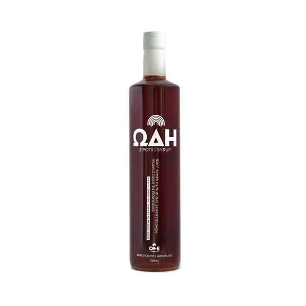 Pomegranate molasses or pomegranate syrup with pomegranate juice and grape juice and NO ADDED SUGAR. Buy from gourmet grocer Grecian Purveyor for free delivery in Melbourne, Sydney, Adelaide, Brisbane and Perth.
