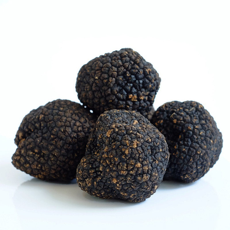 gourmet grocer Grecian Purveyor sells these premium quality summer black truffles (Tuber Aestivum) are preserved in real truffle juice and retain all their natural characteristics and nutrients